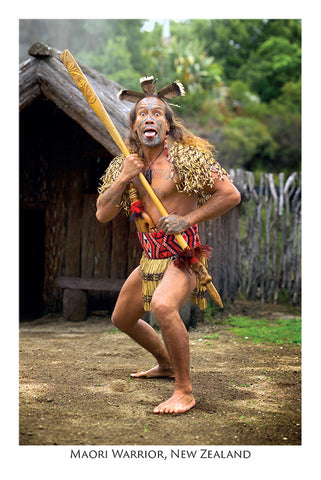 515 - Post Art Postcard - Maori Warrior