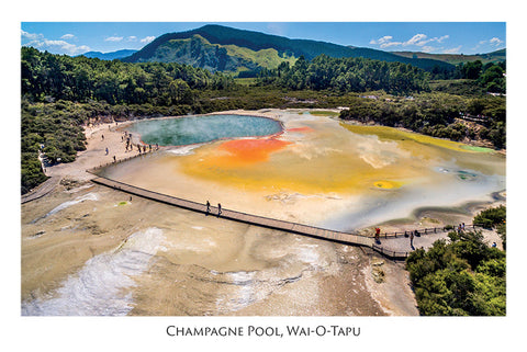 525 - Post Art Postcard - Champagne Pool, Wai-O-Tapu