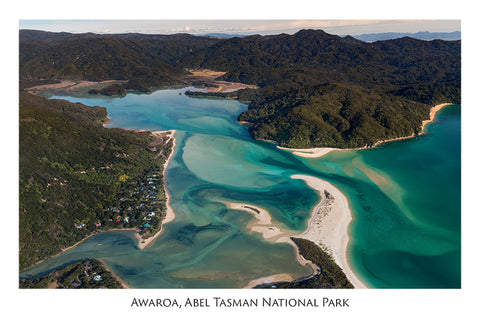 534 - Post Art Postcard - Awaroa, Abel Tasman National Park