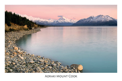 537 - Post Art Postcard - Lake Pukaki, Mt Cook