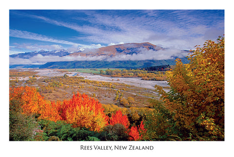 538 - Post Art Postcard - Rees Valley, Glenorchy