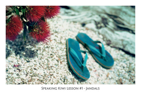 547 - Post Art Postcard - Speaking Kiwi Lesson #1 - Jandals