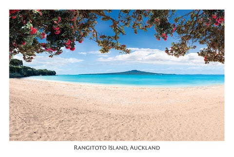 548 - Post Art Postcard - Rangitoto Island