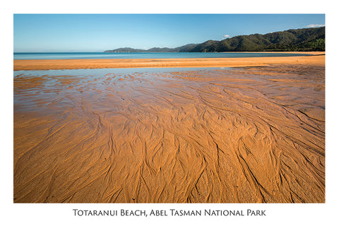560 - Post Art Postcard - Totaranui Beach - low angle
