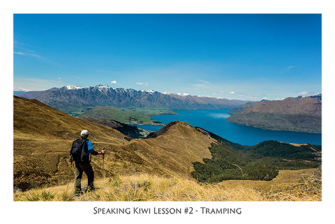 561 - Post Art Postcard - Speaking Kiwi Lesson #2 - Tramping