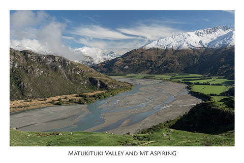 563 - Post Art Postcard - Matukituki Valley from West Wanaka Station