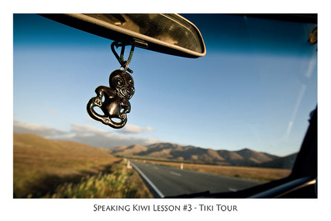 564 - Post Art Postcard - Speaking Kiwi Lesson #3 - Tiki Tour