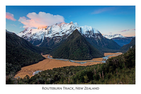 566 - Post Art Postcard - Routeburn Track