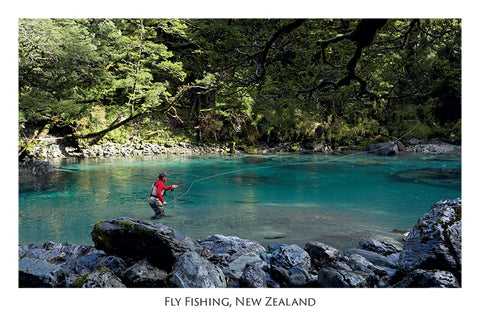 569 - Post Art Postcard - Fly Fishing
