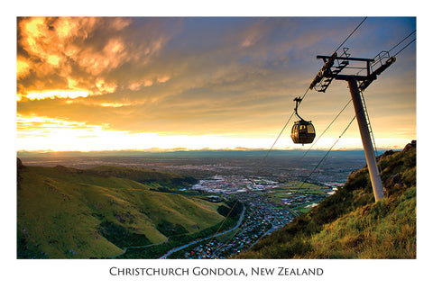 570 - Post Art Postcard - Christchurch Gondola - Sunset