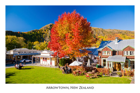 584 - Post Art Postcard - Arrowtown Autumn Cafe