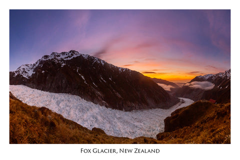 591 - Post Art Postcard - Fox Glacier Sunset