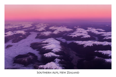 594 - Post Art Postcard - Southern Alps - Aerial