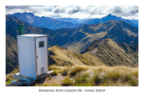 606 - Post Art Postcard - Speaking Kiwi Lesson 6 - Long Drop