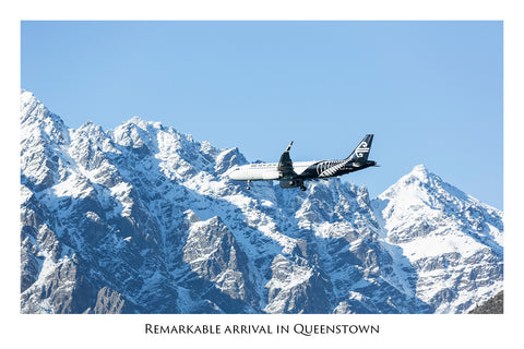 612 - Post Art Postcard - Arrival in Queenstown