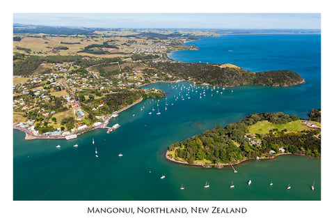 616 - Post Art Postcard - Mangonui - aerial
