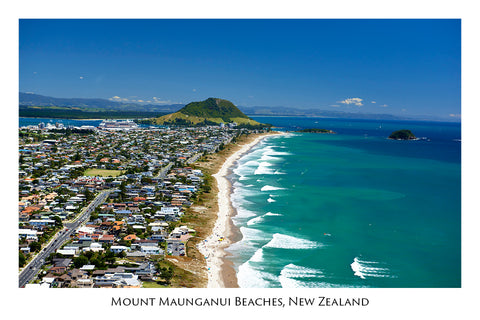 629 - Post Art Postcard - Mount Maunganui Beaches