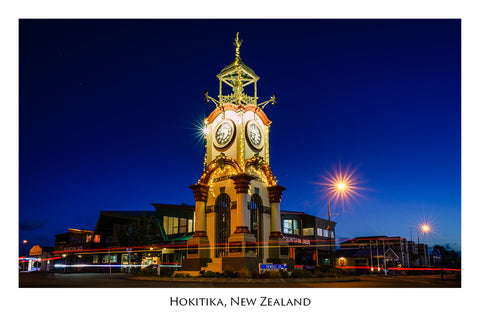 651 - Post Art Postcard - Hokitika Clocktower