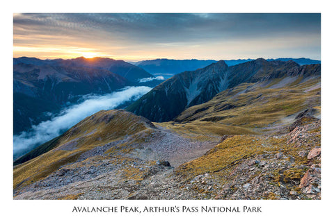 659 - Postcard - Avalanche Peak
