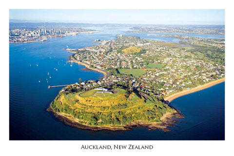 663 - Postcard - Auckland - aerial from North Head