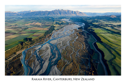 666 - Postcard - Rakaia River and Canterbury Plains
