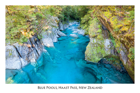 671 - Postcard - Blue Pools, Haast Pass