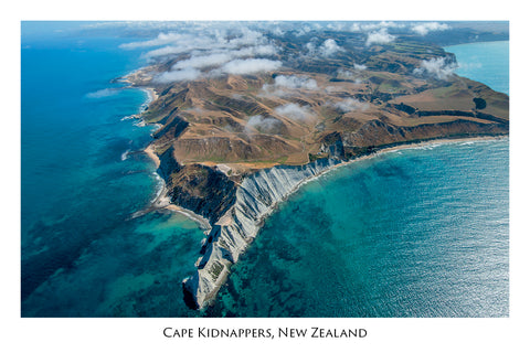 677 - Post Art Postcard - Cape Kidnappers Aerial