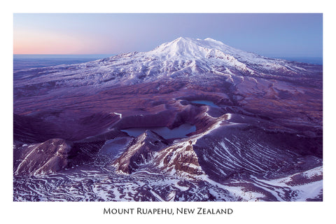 683 - Post Art Postcard - Ruapehu Sunrise