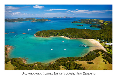 694 - Post Art Postcard - Otehei Bay, Urupukapuka Island