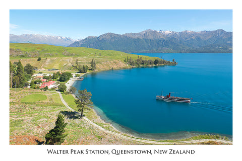 703 - Post Art Postcard - Walter Peak Station - Earnslaw