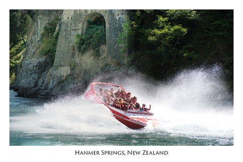 707 - Post Art Postcard - Hanmer Springs Jetboating