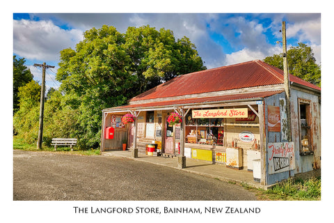 710 - Post Art Postcard - Langfords Store
