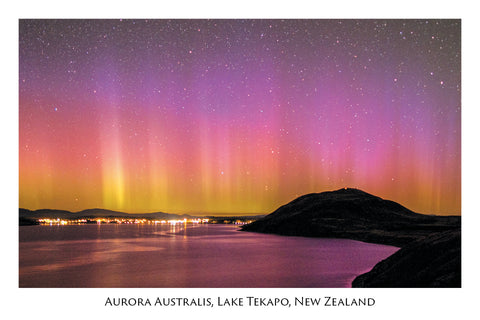 717 - Post Art Postcard - Aurora Australis Lake Tekapo