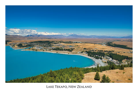 718 - Post Art Postcard - Lake Tekapo from Mount John