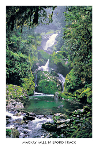 71 - Post Art Postcard - Mackay Falls, Milford
