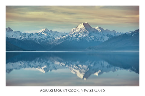 721 - Post Art Postcard - Aoraki Mount Cook Lake Pukaki