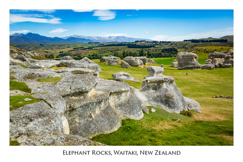 723 - Post Art Postcard - Elephant Rocks