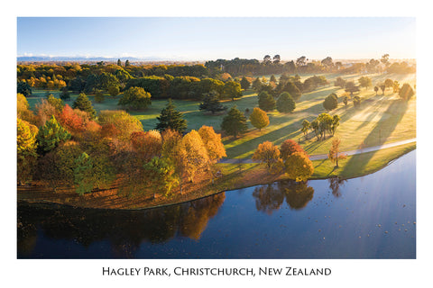 733 - Post Art Postcard - Hagley Park Christchurch
