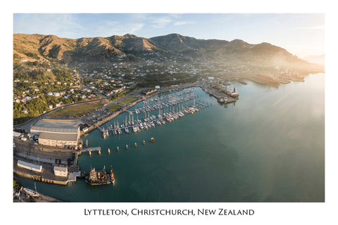 734 - Post Art Postcard - Lyttelton