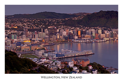 740 - Post Art Postcard - Wellington from Mount Victoria