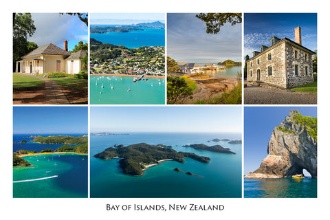 748 - Post Art Postcard - Bay of Island Composite
