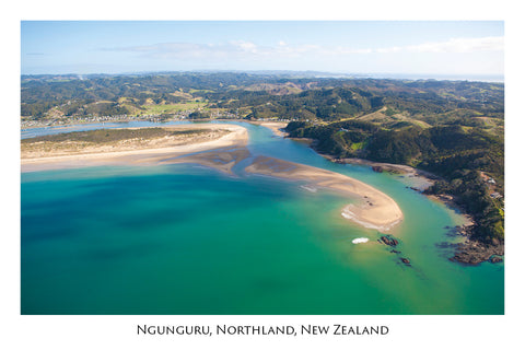 749 - Post Art Postcard - Ngunguru Aerial