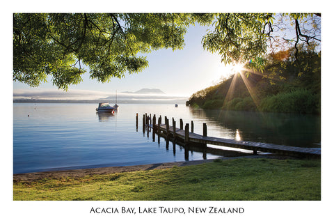 752 - Post Art Postcard - Acacia Bay, Lake Taupo