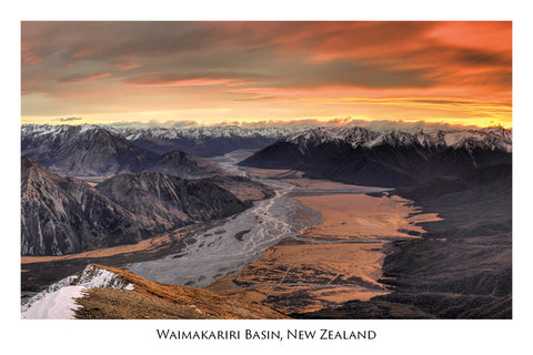 756 - Post Art Postcard - Waimakariri Basin