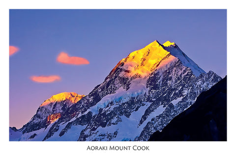 88 - Post Art Postcard - Mt Cook Sunset