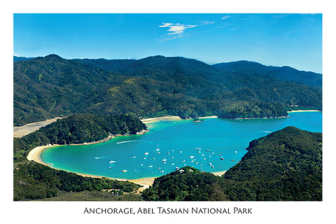 8 - Post Art Postcard - Anchorage, Abel Tasman National Park