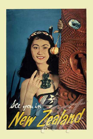 905 - Post Art Postcard - NZ Maori Vintage