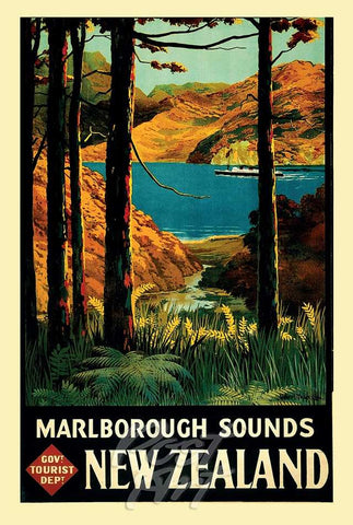 906 - Post Art Postcard - Marlborough Vintage