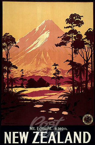 907 - Post Art Postcard - Mt Egmont Vintage