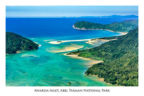 90 - Post Art Postcard - Awaroa, Abel Tasman